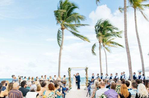 beach ceremony set up at southernmost beach resort