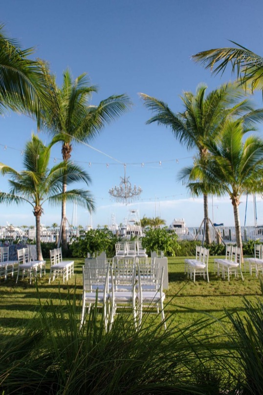 wedding ceremony set up at oceans edge