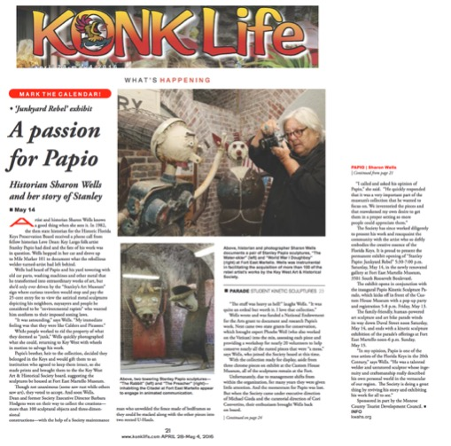 Konk Life Article on Stanley Papio