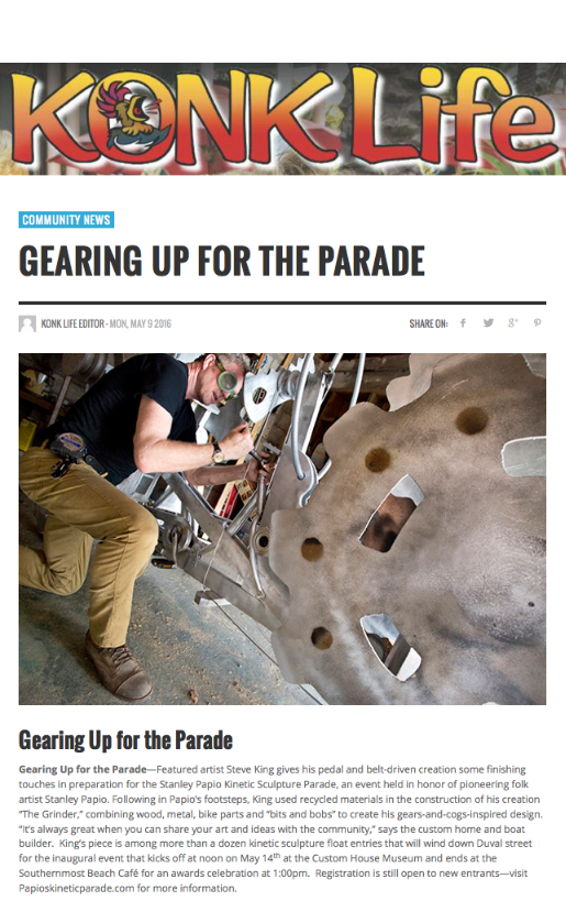 Konk Life Article Gearing Up for the Parade