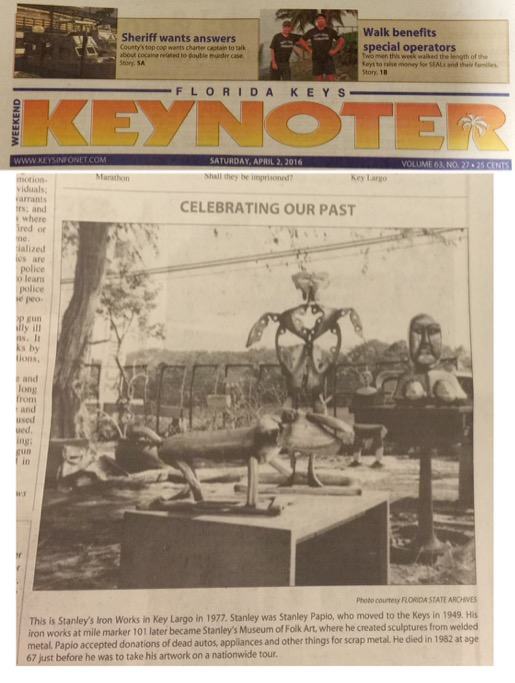 Keynoter Article Clipping - Stanley Papio Kinetic Sculpture Parade